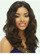 Custom High Quality Beautiful African American Hairstyle Long Wavy Brown About 18 Inches Lace Front Wig