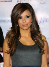 New Elegant Attractive Super Smooth Long Loose Wavy Mixed Brown Lace Wig About 24 Inches