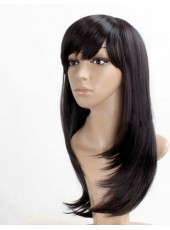 2014 New Arrival Long Silky Straight  Real Reat Resistant  Hair  Wig About 22  Inches