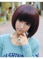 Lovely Pretty Girl Bob Hairstyle Neck Length Synthetic Hair About 12 Inches
