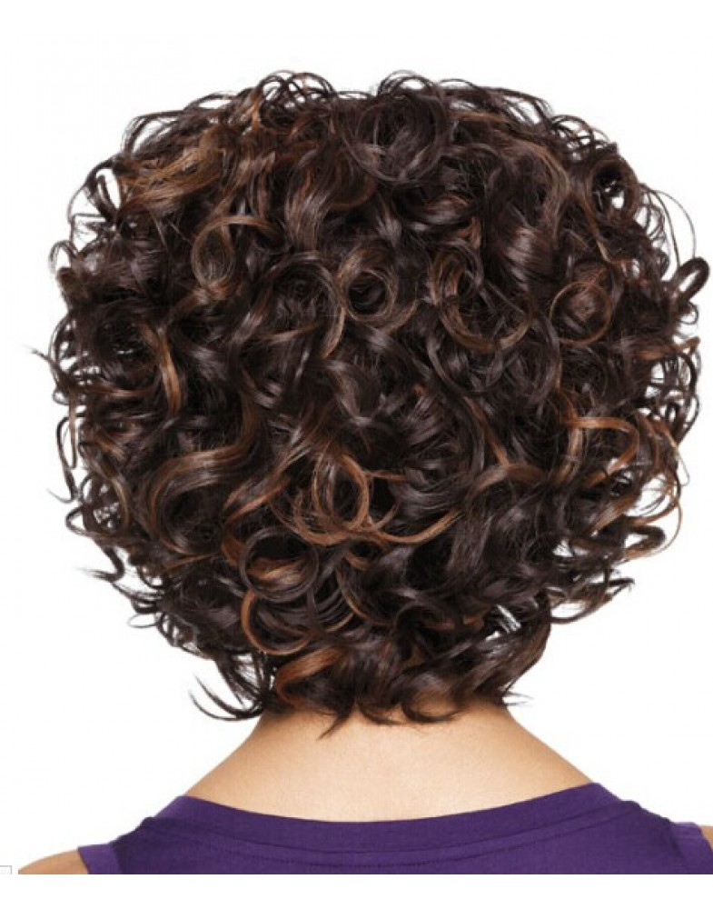 Sherri Shepherd Soft Curl Mix Color Synthetic Hair Capless Wigs