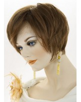 Charming Chic Short Straight Synthetic Hair Capless Wigs About 8 Inches