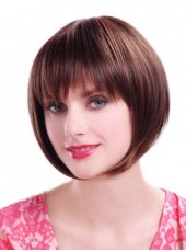 Short Chic Straight Hairstyle Synthetic Hair Capless Bob Wigs