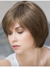 Top Quality Straight Bob Hairstyle Short Cut Synthetic Hair Capless Wigs