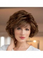Charming Short Cut Layered Hairstyle Synthetic Hair Capless Wigs About 10 Inches