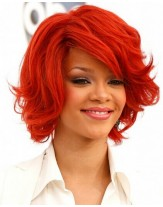 Charming Rihanna Hairstyle Wavy Capless Synthetic Hair Wigs About 10 Inches