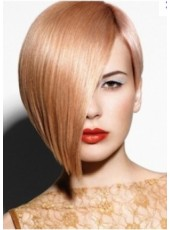 The Cheapest Short Straight Blonde Hair Lace Front Wig About 12 Inches