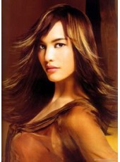 Charming Straight Long Hairstyle Synthetic Lace Front Wig About 22 Inches