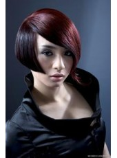 Charming Straight  Hairstyle Synthetic Lace Front Wig About 12 Inches