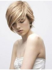 Newest Georgous Elegant Short Straight Lace Front Wig About 8 Inches