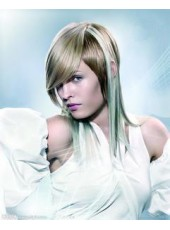 Cheap Custom New Hairstyle Mixed Color Straight Capless Wig about 10 Inches