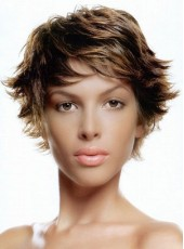Charming Curly Straight Capless Wig About 8 Inches
