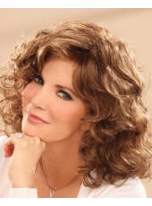 Charming Curly Hairstyle 100% Human Hair Lace Front Wig About 16 Inches