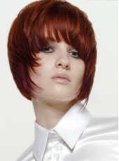 Fashion Trendy Straight Hairstyle Synthetic Capless Wig About 8 Inches