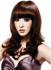 Charming Top Quality Hairstyle Long Wavy Synthetic Capless Wig About 20 Inches