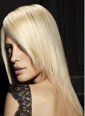 Best Selling Soft Straight Hairstyle Lace Front Wig About 18 Inches