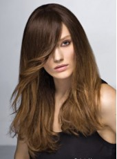 Soft Wavy Bouncy Hairstyle Synthetic Hair Lace Front Wig About 20 Inches