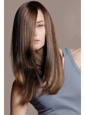 New Arrival Gorgeous Super Soft  Straight  Lace Front Wig About  22 Inches