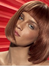 Short Inverted Bob Haircut Medium Straight  Synthetic Hair Capless Wig About 10 Inches
