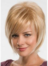 Beautiful Chic Short Straight Blonde Synthetic Hair Capless Ava Wigs About 12 Inches