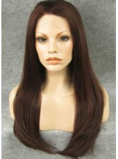 Charming Long Silky Straight High Heat Fiber Lace Front Wigs About 24 Inches