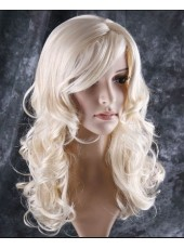 Charming Glamorous Long Wavy Capless Wig About  22  Inches
