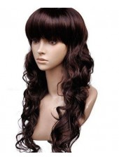 Sweet Hairstyle Long Wavy Synthetic Hair Capless Wig About 20 Inches