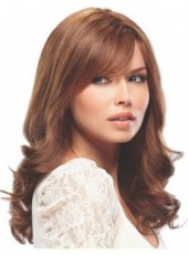 Polish Brown Long Submissive Sexy Wavy Venation Hairstyle Glueless Lace Front Top Quality Wig About 22 Inches