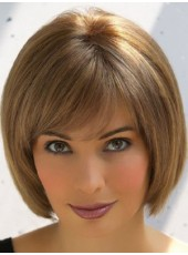 Impressive Custom Short Brown Bob Hairstyle Best Quality Synthetic Capless Wig
