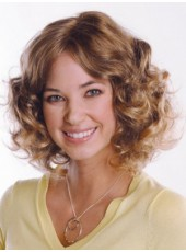 Impressive Top Quality Human Hair Medium Polish Brown Wavy Glueless Lace Front Popular Wig About 14 Inches