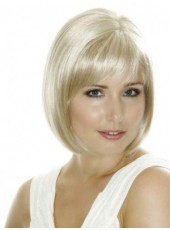 Fashion Trendy Short Polish Blonde Bob Hairstyle Capless Top Quality Synthetic Wig About 10 Inches