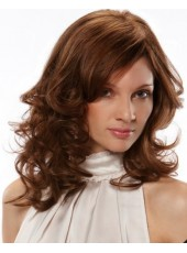 Charming Hairstyle Long Wavy Brown Synthetic Hair Capless Wigs About 18 Inches