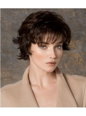 Chic Ellen Wille Hairstyle Short Layered Cut With A Wispy Bangs Wigs About 8 Inches