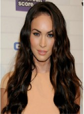 "120% Density Mix Color Megan Fox Hairstyle 24"" Loose Wave Lace Front Human Hair Wigs"