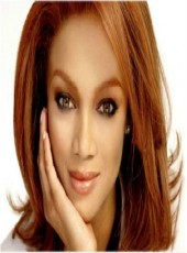 Top Quality Indian Human Hair Custom Tyra Banks Coralline Medium Straight And Wavy Bouncy Hairstyle Lace Front Wig