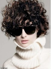 Natural Black Short Curly Cool Hairstyle Synthetic Hair Top Quality Cheap Wigs