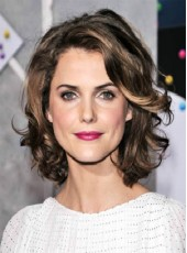 Swiss Lace Front Short Ombre Natural Wave Human Remy Hair Keri Russell Hairstyle Wigs