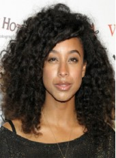 "150% Density African American Hair 20"" Right Bangs Curly Wigs For Black Women"