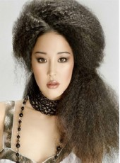 Custom Top Quality Swiss Lace Front Long Fluffy Kinky Hairstyle 100% Human Hair Wig About 26 Inches