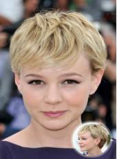 New Arrival Short Loose Wave Golden Oblique Bangs 100% Human Hair Wigs