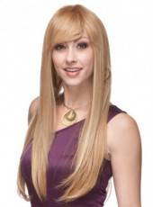 About 26 Inches Top Quality Synthetic Hair Elegant Long Straight Capless Submissive Wig