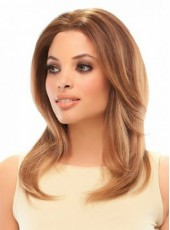 Polish Brown Jon Renau Long Wavy Bouncy Venation Hairstyle Lace Front Synthetic Hair Wig About 20 Inches