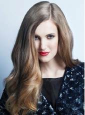 Unique Cool Elegant Long Sliver Highlights Brown Wavy Full Lace 100% Human Hair Wig About 24 Inches