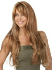 High Quality Amazing Long Wavy Blonde Capless Synthetic Wig About 24 Inches
