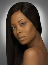 Impressive Hand Made Swiss Lace Front Natural Black Long Submissive Straight African American Synthetic Hair Wigs About 20 Inches
