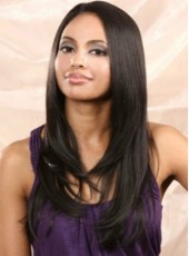 Boutique Fascinating Elegant Long Wavy African American Hairstyle Lace Front Wig Synthetic Hair Wig About 22 Inches