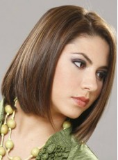 Submissive Straight Medium Shoulder Brown Venation Hairstyle Lace Front Heat Resistant Popular Wig About 14 Inches