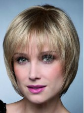 Impressive Top Quality Short Sliver Mature Lady Bob Hairstyle Capless 100% Human Hair Wig About 10 Inches
