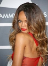 Amazing Rihanna Sexy Hairstyle 100% Human Hair Hand Made Glueless Lace Front Wig About 26 Inches