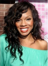 Wendy Raquel Robinson Style Curly Lace Front Hair Wig About 20 Inches
